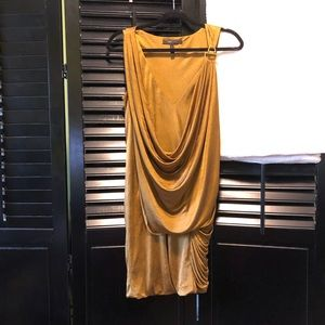 BCBGMAXAZRIA Gold Dress